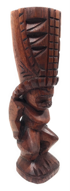 "Love Tiki Totem 8"" Stained - Hawaiian Tiki Bar Decor 