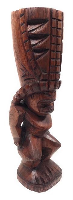 "Love Tiki Totem 8"" Stained - Hawaiian Tiki Bar Decor | #yda1100720b"