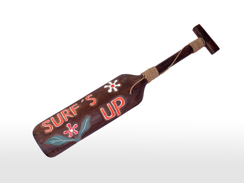 """SURF'S UP"" HANGING PADDLE 32"" - SURF DECOR"
