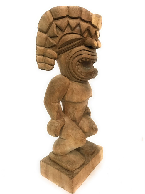 "Oahu Ku Tiki 24"" - Traditional Hawaii Museum Replica 