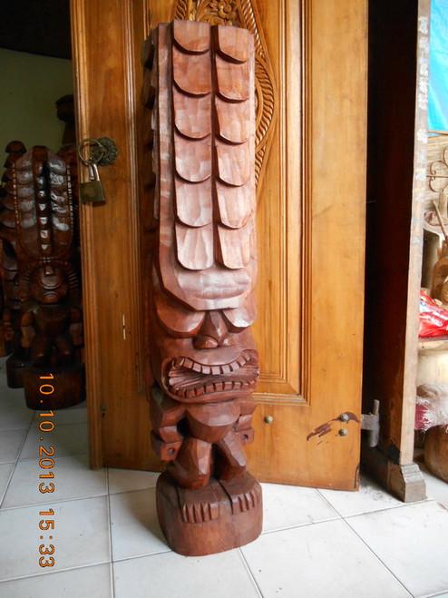 "Tiki Kona Style Kane 72"" - Stained Hawaii Museum Replica | #yda11033180b"