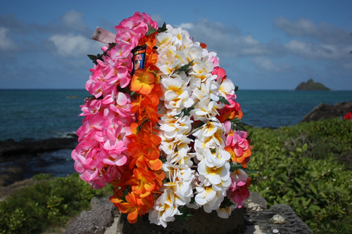 "Plumeria / Jasmine Poepoe, Assorted, 6 Pack 18"" - Hawaii Silk Leis"