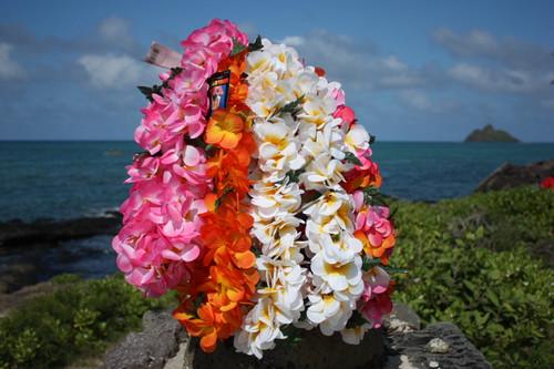 """Plumeria / Jasmine Poepoe, Assorted, 6 Pack 18"""" - Hawaii Silk Leis"""