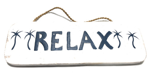 """Relax Sign 14"""" - Rustic Cottage Decor 
