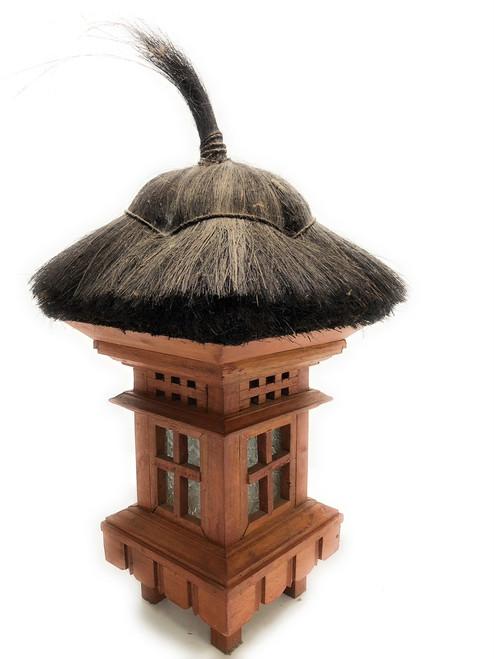 "Balinese Lantern 20"" w/ Coconut Husk & Glass | #pdy2700212"