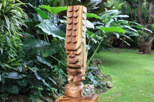 "Tiki Kona Style Kane 32"" - Natural Hawaii Museum Replica"