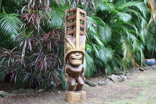"Premium Tiki Akua Kai 60"" - Art Gallery Grade - Hawaiian Heritage | #yda11017160"