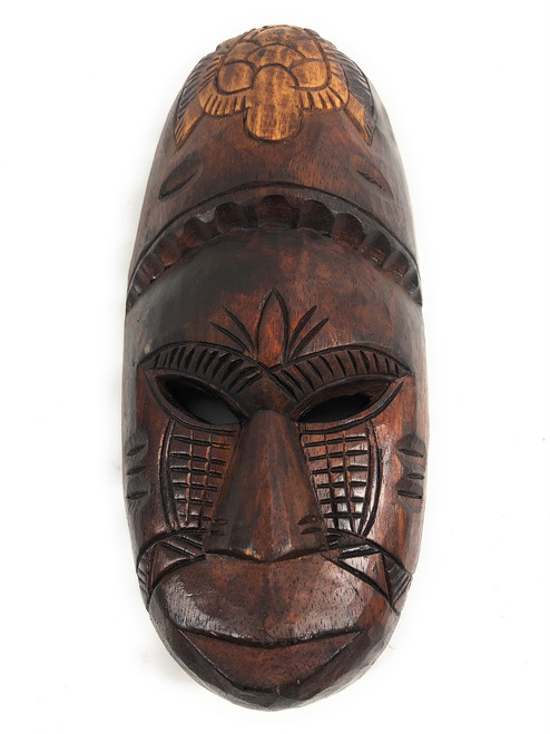 "Fijian Tiki Mask 12"" - Meaning of Love - Oceanic Art 