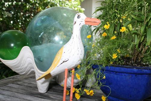 """""""SEAGULL BIRD"""" - RUSTIC YELLOW COASTAL 14"""" - GARDEN/HOME DECOR 2"""