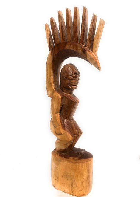"Tiki Goddess Pele - 48"" Hand Carved Replica   #yda11029120n"