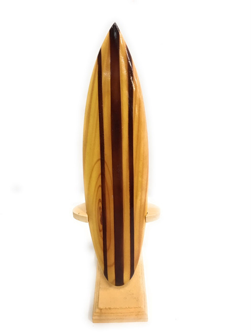 "Classic Surfboard Natural w/ Vertical Stand 8"" - Trophy 