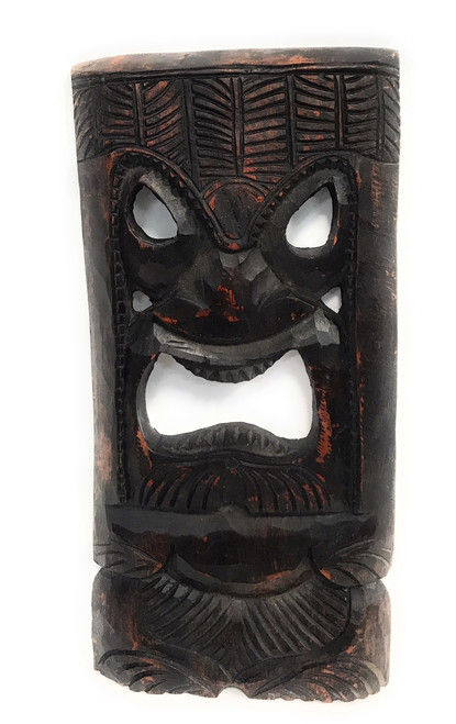 "Kalanaloa Tiki Mask 18"" Stained - Learning 