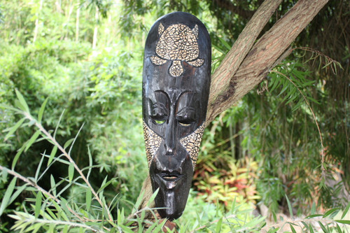 "Native Tribal Tiki Mask 20"" - Abstract Wall Decor 