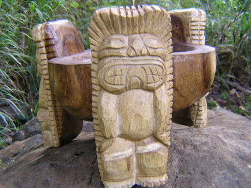 "Scorpion Tiki Bowl 12"" Natural - Wooden Carved | #rtg1004N"