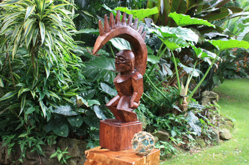 "Tiki Goddess Pele - 32"" Authentic Replica - Muse De L'Homme Museum 2"