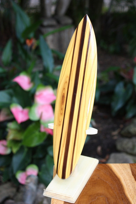 """Classic Surfboard Natural w/ Vertical Stand 12"""" - Trophy 