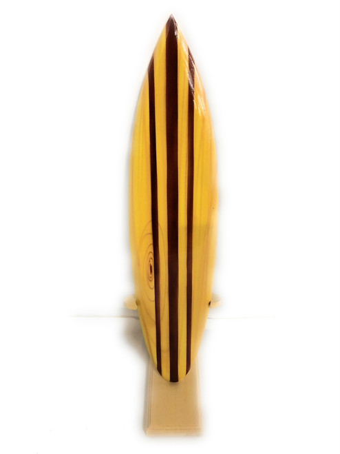 "Classic Surfboard Natural w/ Vertical Stand 16"" - Trophy 