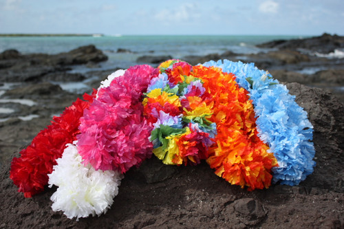 "Large Carnation Assorted, 6 Pack 18"" - Hawaii Silk Leis"