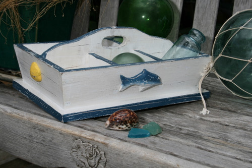 "DIVIDER TRAY 6 SECTIONS 16"" - BLUE NAUTICAL DECOR"