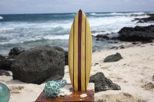 "Classic Stringer Surfboard 20"" - Surf Decor Hawaii - Trophy | #wai350150n"