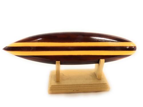 "Classic Surfboard Brown w/ Horizontal Stand 8"" - Trophy   #wai350220b"