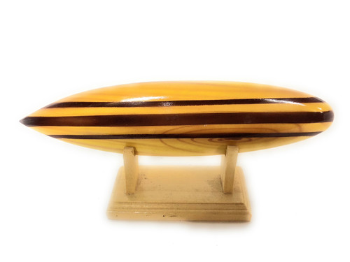 "Classic Surfboard Natural w/ Horizontal Stand 8"" - Trophy 
