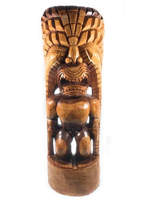 "Tiki God Of King Kamehameha 48"" - Kanaloa - Natural"