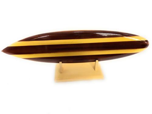 "Classic Surfboard Brown w/ Horizontal Stand 16"" - Trophy | #wai350240n"