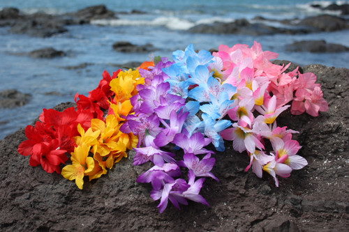 "Silk Leis Azalea Assorted, 6 Pack 18"" - Hawaii Silk Leis"