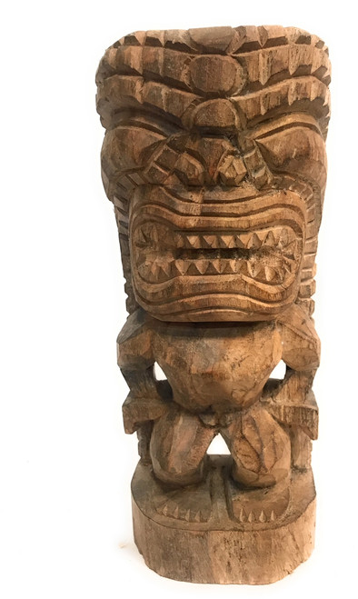 "God of King Kamehameha Tiki 12"" - Hawaii Museum Replica 