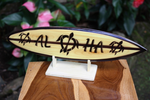 "Classic Surfboard Aloha w/ Turtle 16"" - Trophy | #wai350240t"