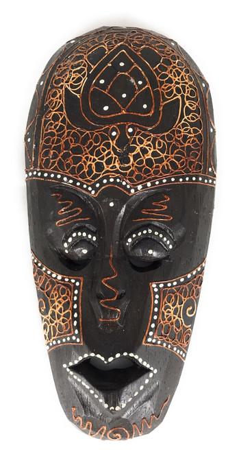 "Tribal Tiki Mask 8"" w/ Turtle - Primitive Art | #wib370420f"