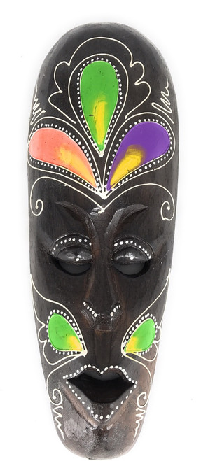 "Tribal Mask 12"" Floral - Primitive Art 