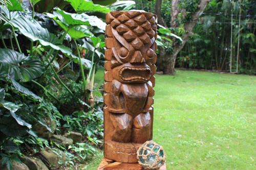 Ocean/Fishing Tiki Sculpture 26 in - Hand Carved | Hawaii Museum | #yda1100260