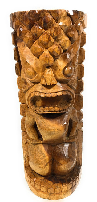 "Ocean/Fishing Tiki Sculpture 26"" - Hand Carved 