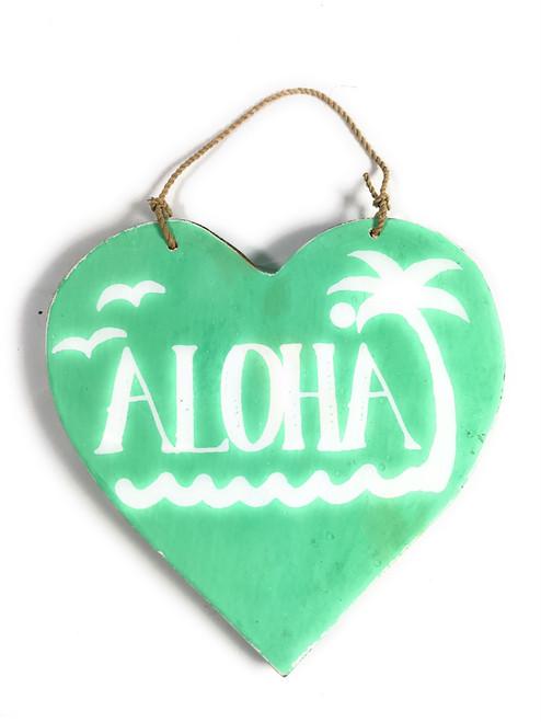 """Aloha"" Heart Sign 5"" - Turquoise | #snd25116t"