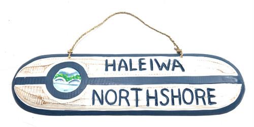 """Haleiwa Northshore"" Wooden surf sign 20"" w/ custom painting | #snd25082"