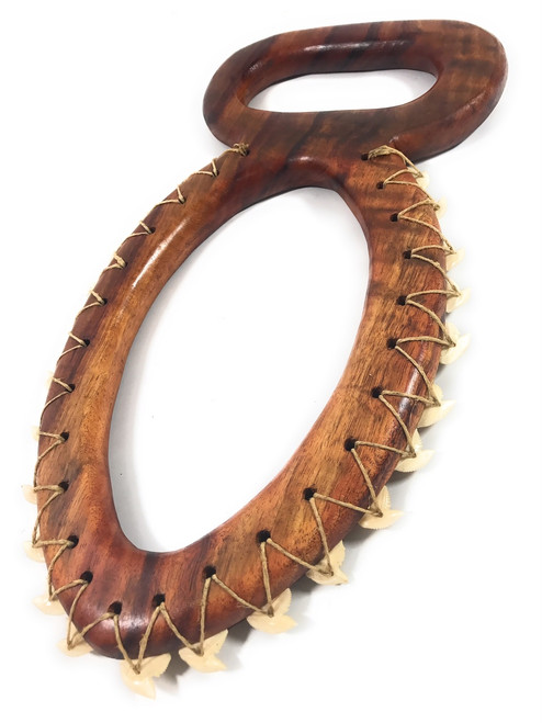 "Premium Koa War Club Hawaiian 8-Shape 16"" - Hawaiian Tradition 