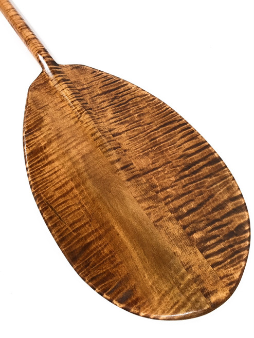 "Decorative Hawaiian Paddle 50"" w/ T Handle - Curly Maple 
