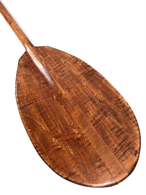 "Decorative Hawaiian Paddle 50"" w/ T Handle - Curly Maple | #koa6086"