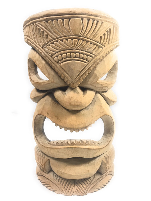 "Hand Carved Tiki Mask 14"" - Hibiscus Wood - Made In Hawaii 
