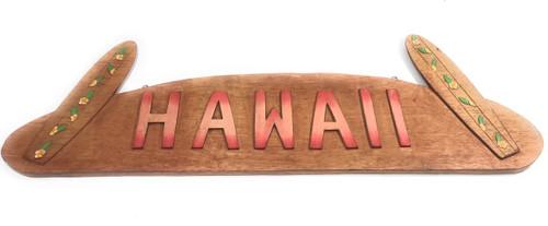 """Hawaii Sign w/ Surfboards Wooden Sign 36"""" X 11""""   #tmaloha3"""