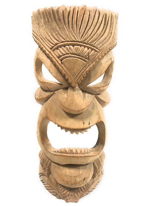 "Hand Carved Tiki Mask 12"" - Hibiscus Wood - Made In Hawaii 