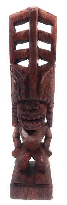 "Tiki Akua Kai 8"" - Stained - Hawaii Museum Replica 