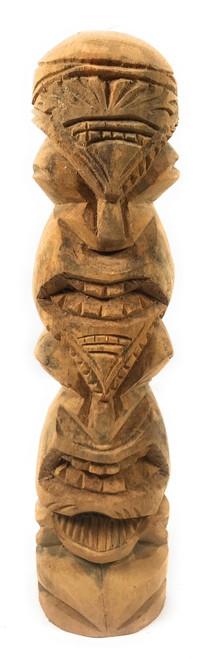 "Love/Prosperity Tiki Totem 14"" Hibiscus Wood - Made In Hawaii | #poko19"