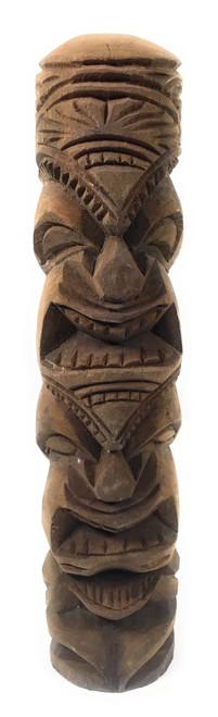 "Love/Prosperity Tiki Totem 14"" Hibiscus Wood - Made In Hawaii | #poko24"