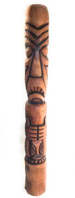 Protection Tiki Outdoor Totem Pole 7' - Burnt Finish | #lbj3036200n3