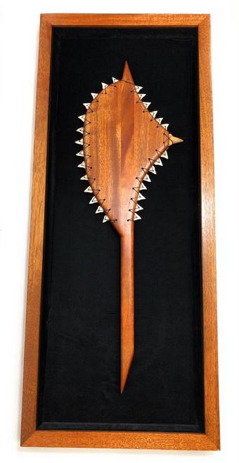 "Koa Shadow box w/ Sledge Hammer 42""X 18"" - Black Velvet - Made In Hawaii | #koasb08"