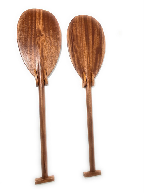 "Pair of Koa Paddles Trophy 32"" w/ Vertical Brackets - Made In Hawaii 