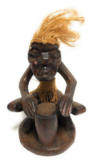 "Drummer Crazy Primitive Dude 12"" - Tribal Decor 